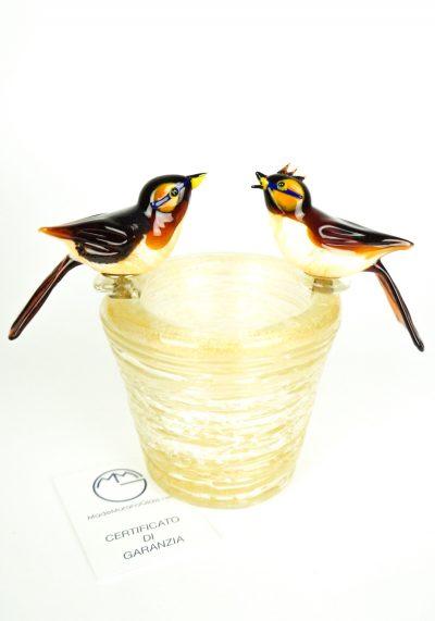 Nest With 2 Birds – Murano Glass