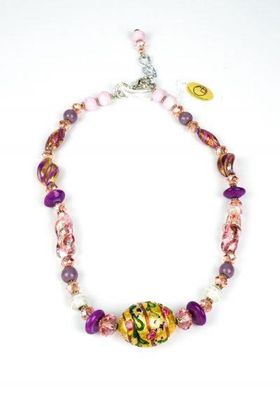 Roseta – Necklace Made Murano Glass