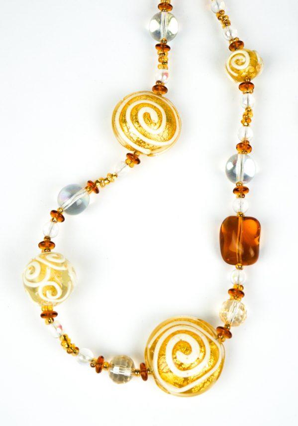 Luzi - Collana Perle Vetro Soffiato Murano