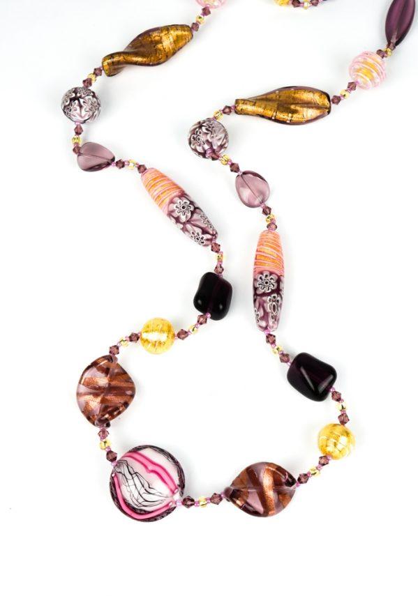 Nuar - Collana Perle Vetro Veneziano
