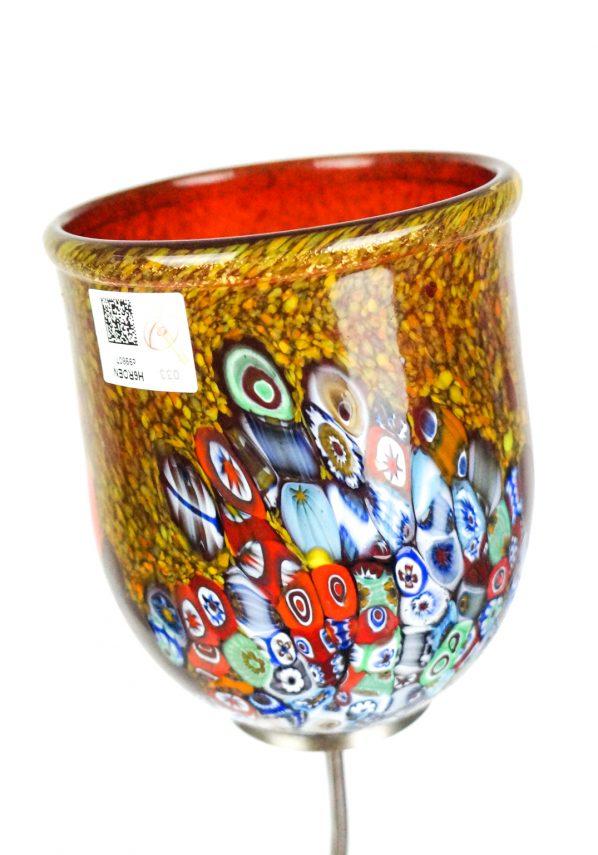 Lampada Da Tavolo A 2 Luci Vetro Murano - Primavera Rosso murano glass lamp