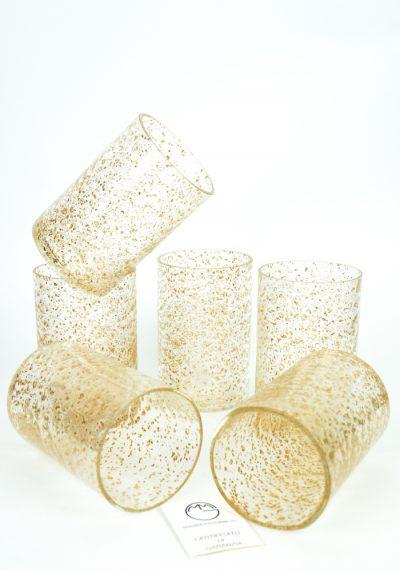 Set Of 6 Golden Powder Glasses
