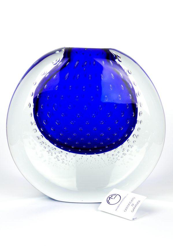 O Mare Mio - Vaso Vetro Murano Blu Sommerso - Made Murano Glass