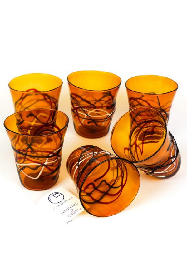 Amali - Set Di 6 Bicchieri Vetro Soffiato