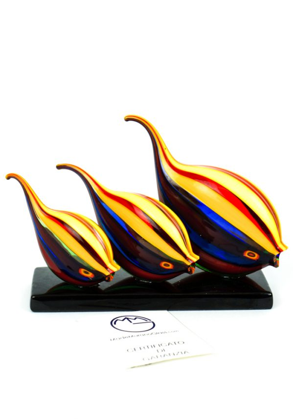 Tris Pesci Tropicali Multicolor