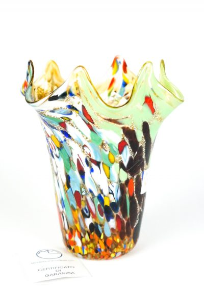 Oripo- Vase Fantasy Amber – Made Murano Glass