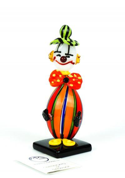Sculpture Multicolored Clown – Made Murano Glass