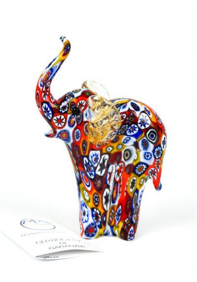 Scultura Animale Elefante Millefiori