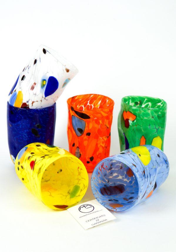 Paraiba - Set Di 6 Bicchieri Vetro Soffiato - Goto De Fornasa
