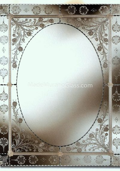Venetian Glass Wall Mirror – Luigixvi – Murano Art