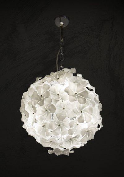 Angelic – Made Murano Glass Chandelier White Roses