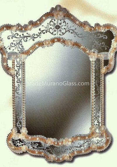 Gold Murano Glass Wall Mirror – San Bortolomeo