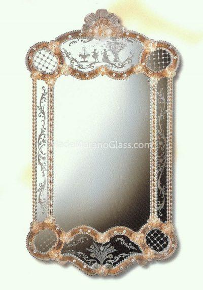Gold Murano Mirror – Nicoletto – Venetian Glass