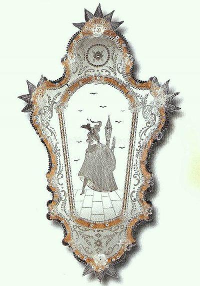 Murano Glass Mirror – Cavaliere – Venetian Glass