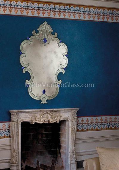 Venetian Glass Mirror – Lazzaro – Murano Art Glass