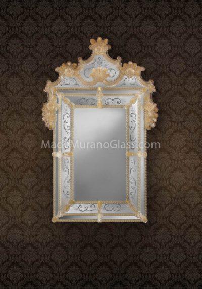 Murano Glass Mirror – Certosa – Murano Art