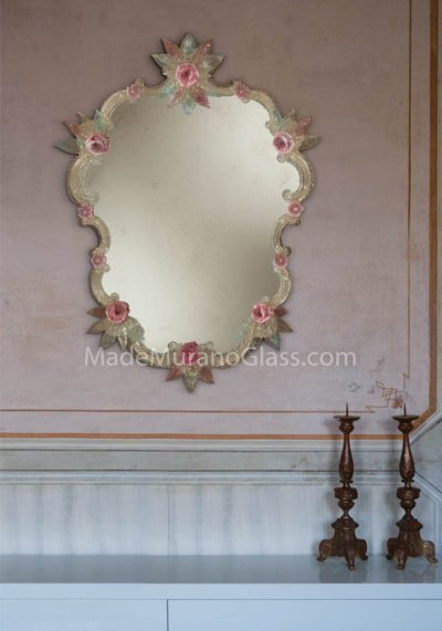 Venetian Wall Mirror – Floreal – Murano Collection