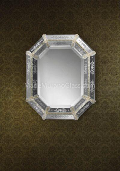 Silver Murano Glass Mirror – Artide – Venetian Glass