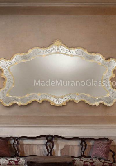 Venetian Glass Mirror – Reale – Murano Art Glass