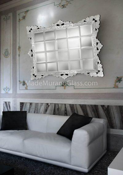 Narciso – Specchio Di Murano Foglia Argento