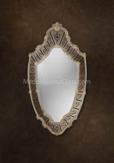Murano Glass Mirror – Maori – Venetian Glass