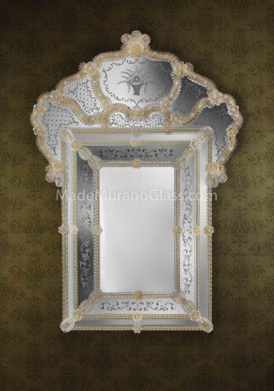 Gold Silver Murano Glass Mirror – Paris