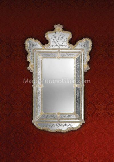 Gold Venetian Glass Mirror – Dubai – Murano Glass