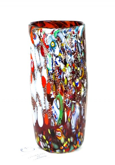 Kono – Murano Glass Vase Fantasy Red