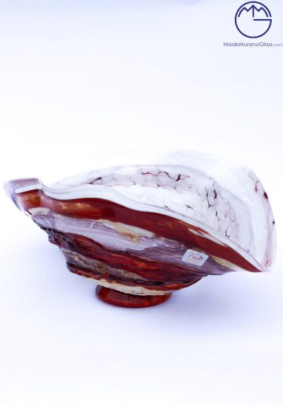 Ischia – Murano Glass Bowl Sbruffi Red