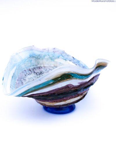 Zafiro – Murano Glass Bowl Sbruffi Blue