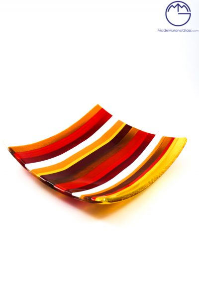 Piatto Quadrato Grande In Vetro Fusione – Svuotatasche