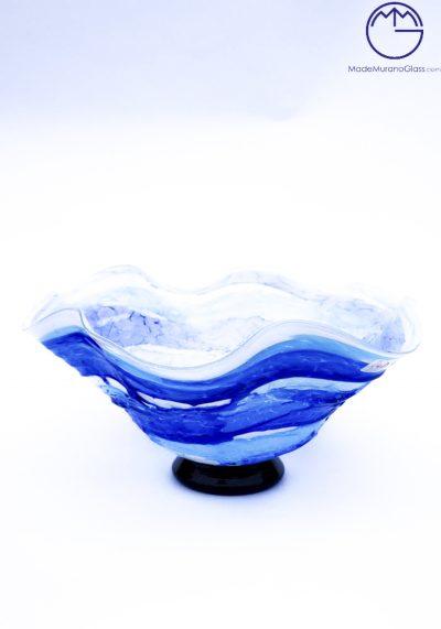 Prince – Murano Glass Bowl Sbruffi Blue