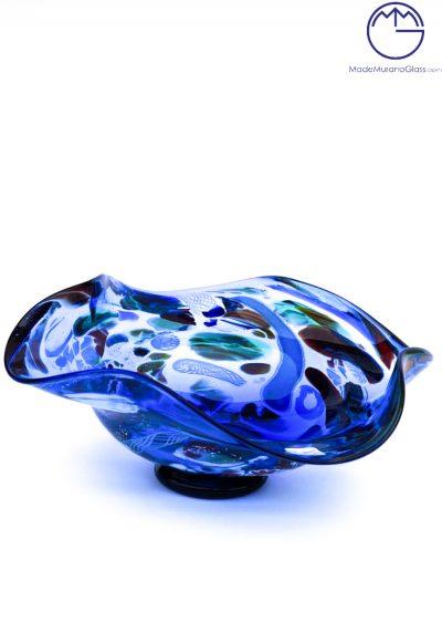 Verona – Murano Glass Bowl Fantasy Blue