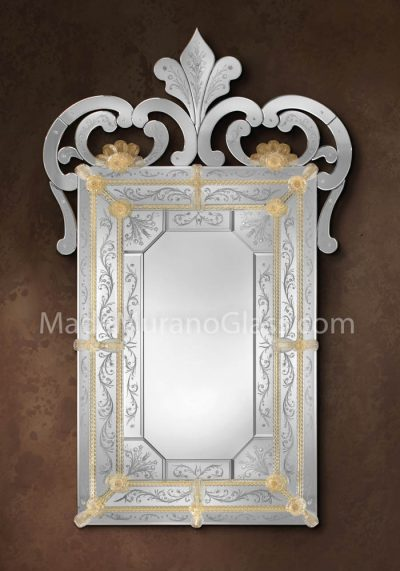 Murano Glass Mirror – Regina – Venetian Art Glass