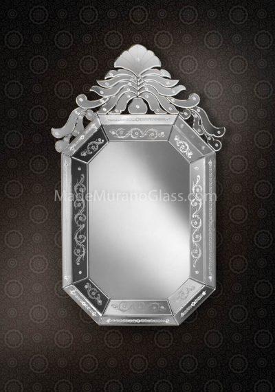 Venetian Glass Mirror – Abisso – Murano Glass