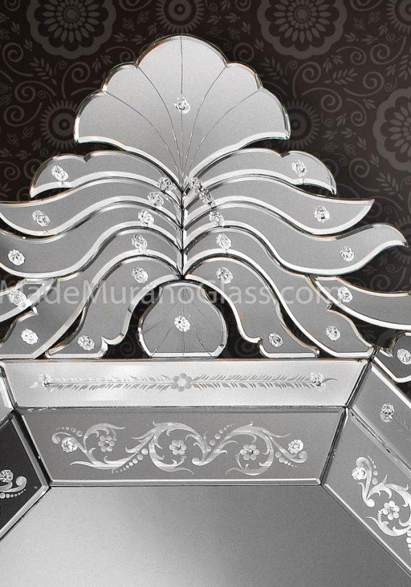 design murano glass mirror