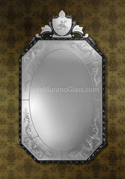 Venetian Glass Mirror – San Giorgio – Murano Glass