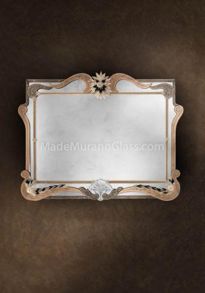 Venetian Glass Mirror – Vivarini – Murano Art Glass