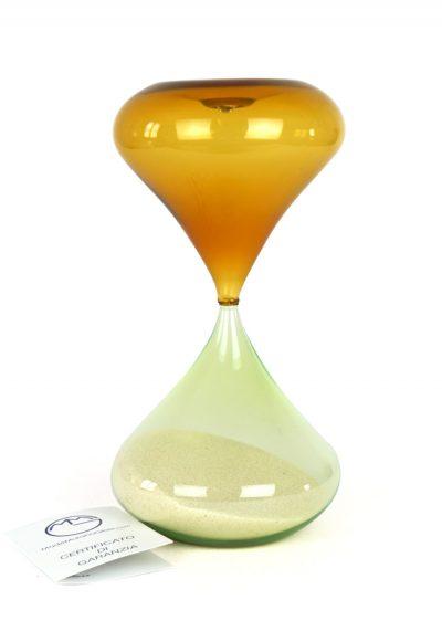 Murano Hourglass – Amber Green