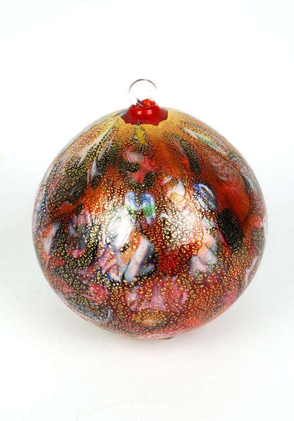 Nascimento - Palla Di Natale Rosso Millefiori In Vetro Soffiato murano xmas ball