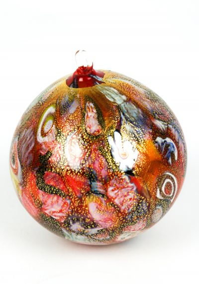 Xmas Red Ball With Murrina Millefiori