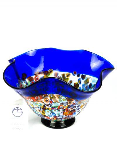 Fisty – Blue Murano Glass Bowl And Millefiori