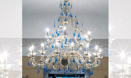 Murano chandeliers, a work of art that illuminates your home