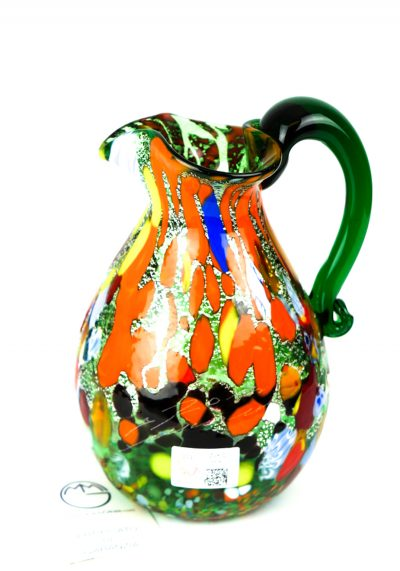 Jug In Venetian Blown Glass Fantasy Green