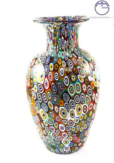 Exclusive Venetian Glass Vase With Murrina – Murano Glass