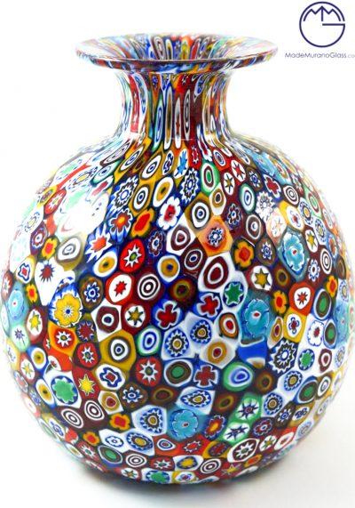 Venetian Glass Vase With Murrina Millefiori