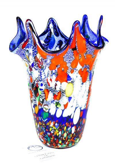 Masia – Murano Blown Vase Fantasy Blue