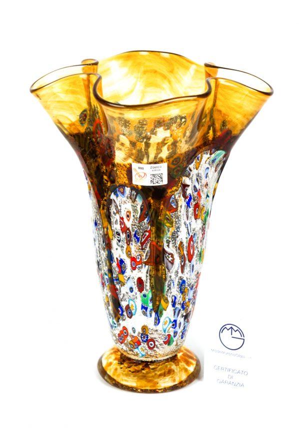 Caigo - Vaso Fazzoletto Colature Ambra