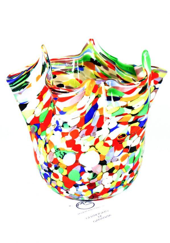 Fazzoletto Vetro Murano Con Mace Multicolore