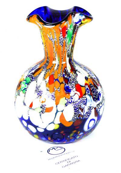 Lusia – Murano Glass Vase Fantasy Blue